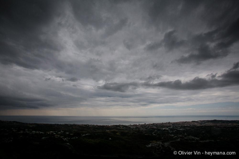 Threatening sky